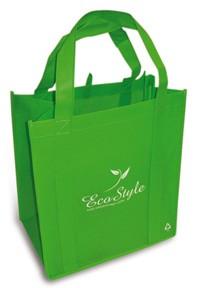 Nákupní taška ECO Style 32x35x22 zelená